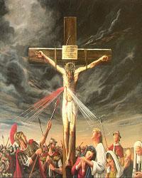 هل طعن المسيح فيي جنبه بحربة فخرج دم وماء؟